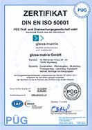 DIN-EN-ISO-50001-Zertifikat Gloss Matrix GmbH